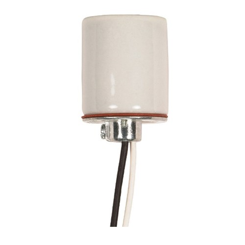 Satco 80-1315 - Keyless Porcelain Socket with Cap - 660 Watts - 250 Volts - CSSNP Screw Shell - 1/8 IPS Hickey