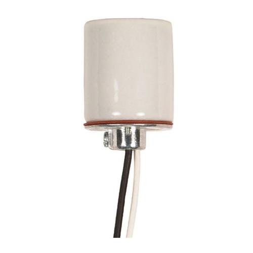 Satco 80-1316 - Keyless Porcelain Socket with Cap - 660 Watts - 250 Volts - CSSNP Screw Shell - 1/8 IPS Hickey