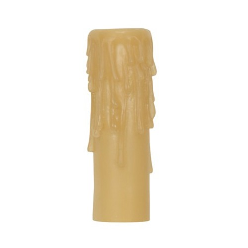 "Satco 80-1635 - Candle Cover with Amber Half Drip Resin - Edison Base - 4"" Height - 7/8"" Inside Diameter - 1-5/32"" Outside Diameter"