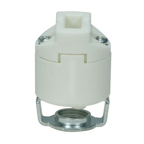 Satco 80-1741 - Porcelain G9 Base Smooth Body Socket - 500 Watts - 250 Volts - With Set Screw