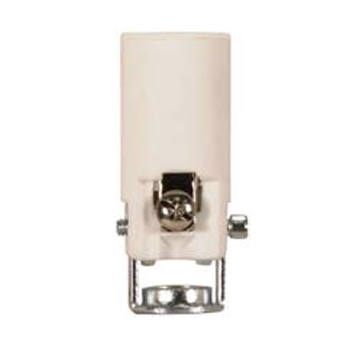 Satco 80-1893 - Phenolic Candelabra Socket with Leads Paper Liner - 75 Watts - 125 Volts - With Set Screw