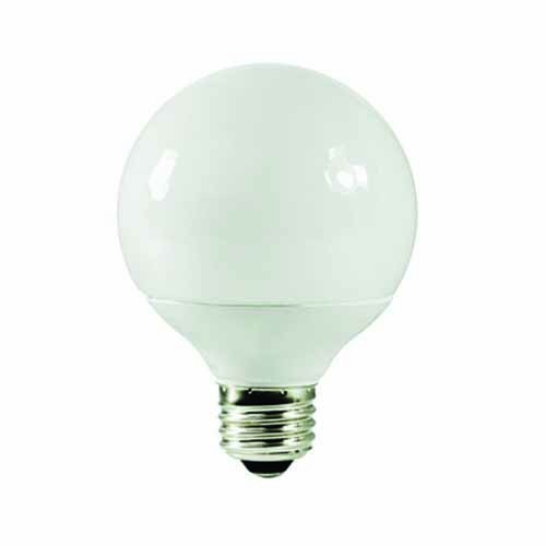 Shat-r-Shield 88709 - 14W Globe G25 CFL 2700K Warm White Medium Base - 120V - 6 PACK