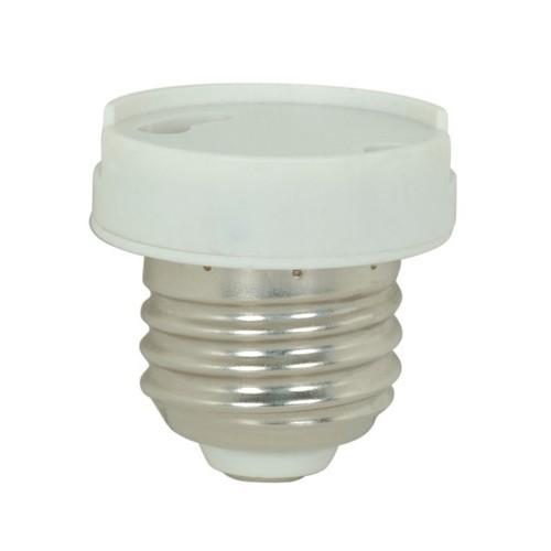 Satco 90-2434 - GU24 Socket Reducer - Removable Grip Function - 660W - 250V - Less Set Screw - White Finish