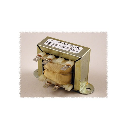 Hammond 187C120 - Power Transformer - Low Voltage Solder or Quick Connect Terminals - 115 VAC Single Primary  50/60HZ - 12VA - 0.1 Amps