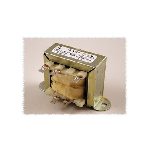 Hammond 187D120 - Power Transformer - Low Voltage Solder or Quick Connect Terminals - 115 VAC Single Primary  50/60HZ - 30VA - 0.25 Amps