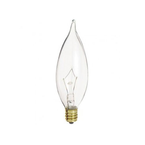 Satco A3662 - 60 Watt - CA10 Incandescent - Clear - Candelabra base - 642 lumens - 130V - 500 Packs