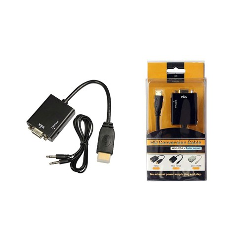 HDMI to VGA Converter Adapter Cable With Audio Output