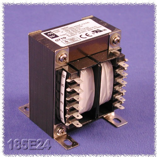Hammond 185E230 - Power Transformers - Low Voltage Chassis Mount - 80VA - 50/60HZ - Dual primary 115/230 VAC