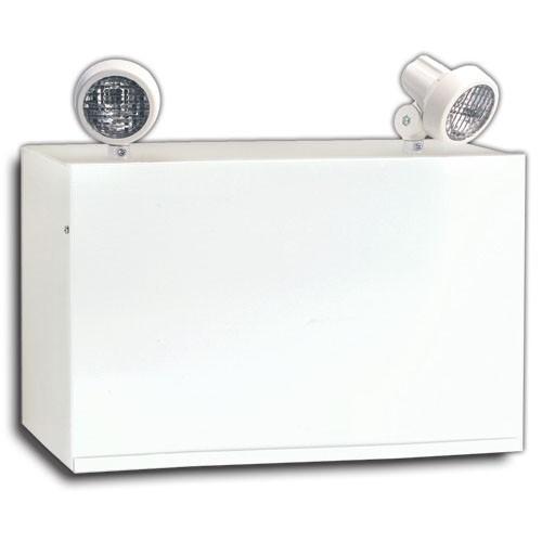 Emergency Light - Battery Unit - Steel - 120/347VAC Input - 12VDC Output - 160 Watt for 30 minutes - (2) x 9 Watt PAR-18 Lamps - White - Beghelli NV12160/2SR9W