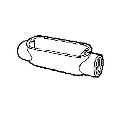 Nesco C7GC - 'C' - 2-1/2'' Rigid Conduit Body - Threaded only (Requires connectors for EMT)
