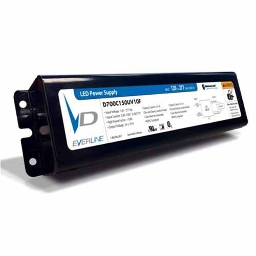 Everline D700C150UV10F - Output 150W 700mA LED Driver - 0‐10Vdc Dimming to 10% - Thermal Foldback Control - Input120-277Vac