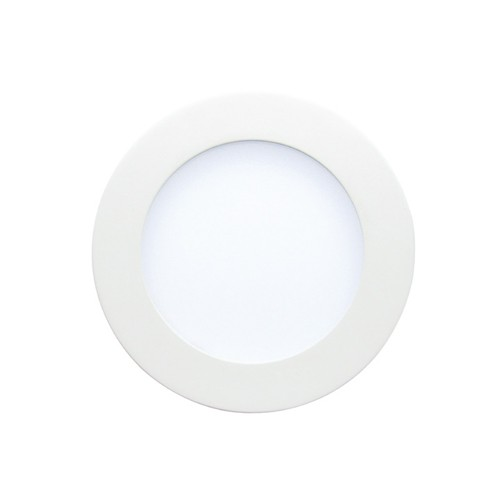 "Etlin Daniels DLSWR4-913D-WH-FF - LED Slim Downlight Round - 4"" / White Trim Wet Location - 9 Watt - 3000K Warm White - 120V"
