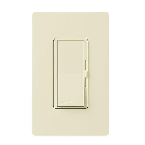 Lutron DV-603PG-AL - Diva - 3-way/Single-pole Incandescent / Halogen Preset Eco-dim Dimmer - 120V - 600W - Almond