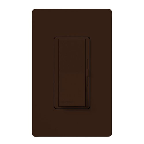 Lutron DV-603P-BR-CSA - Diva - 3-way Incandescent / Halogen Preset Dimmer - 120V - 600W - Brown