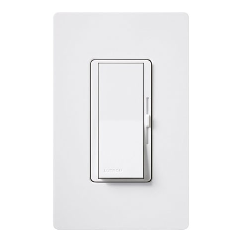 Lutron DVCL-153P-WH - Diva C•L Single Pole/3-way Dimmer - 150W LED/CFL Or 600W Incandescent/Halogen - White
