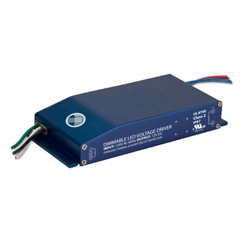 Magnitude E60R12DC - 60W - 12VDC - Dry and Wet Location Rated - Input 120Vac - Constant Voltage Compact Dimmable LED Driver