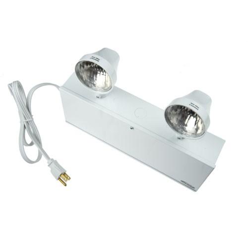 Emergency Light - Battery Unit - Steel - 120/347VAC Input - 6VDC Output - 72 Watt for 30 minutes - (2) x 9 Watt PAR-18 Lamps - White - Beghelli NV672/2SR9W