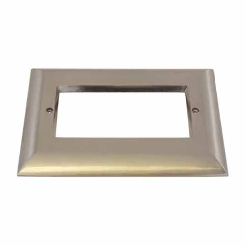 Liteline OSL-OPN3-BN - Open Face Plate for 3-Gang LED Outdoor Step Light - Brushed Nickel