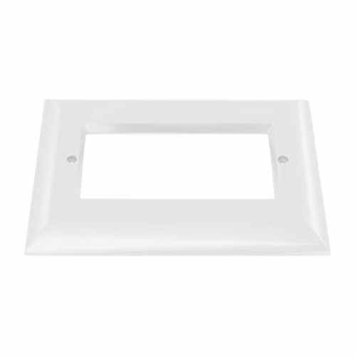 Liteline OSL-OPN3-FWH - Open Face Plate for 3-Gang LED Outdoor Step Light - Flat White