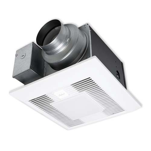"Panasonic FV-05-11VKL1 WhisperGreenSelect Fan with LED Light - Speed Selector 50, 80 or 110CFM - Integrated dual 4"" or 6"" duct adaptor"