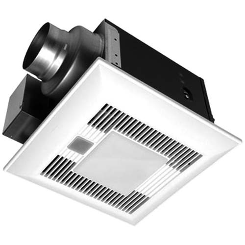 WhisperSense-Lite™ 80 CFM Ceiling Mounted Ventilation Fan/Light with Dual Sensor Motion and Humidity Technology - Panasonic FV-08VQCL6