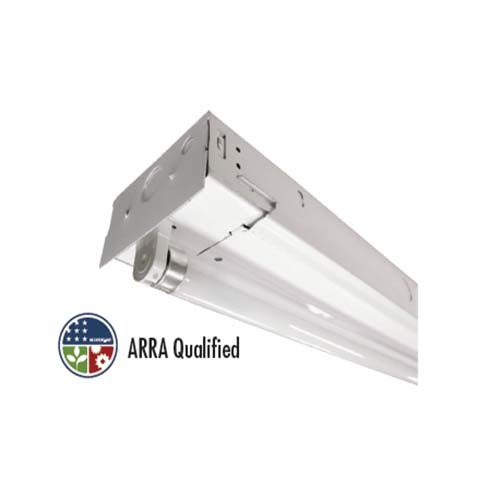 TCP GP8SA432UNIHPRS - 8' General Purpose Strip - 4 Lamp - T8 - 32 Watt - 120-277 Volt - Specular Aluminum Ballast Cover - High Ballast Factor - Program Rapid Start