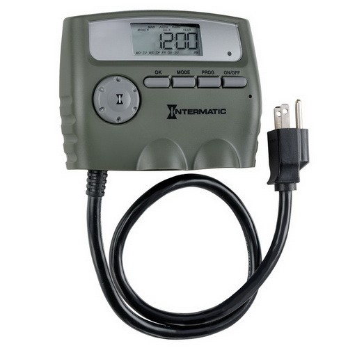 Intermatic HB800RCL - Heavy Duty Outdoor Digital Timer - 2 Grounded Outlet - 15 Amps - 120 VAC