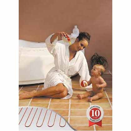 Danfoss 240V Floor Heating Cable - Covers from 105 up to 210 sq.ft. depending on chosen spacing