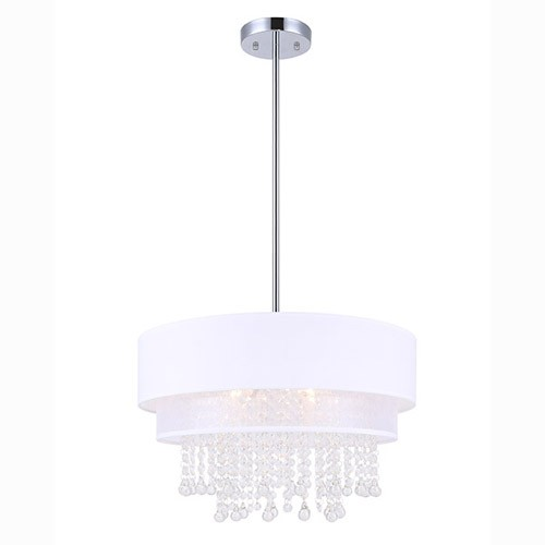 Canarm ICH509A04CH18 - CHARLESTON Chandelier - CHROME AND CRYSTAL
