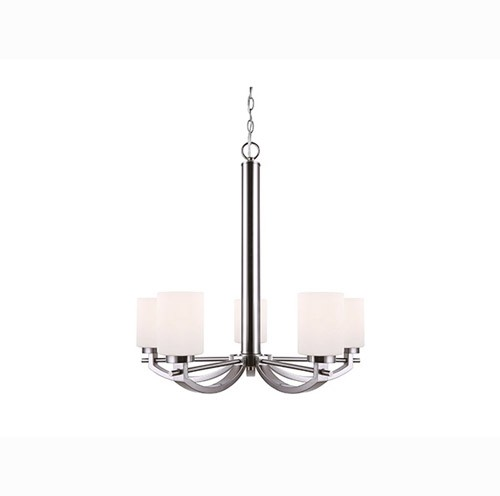 Canarm ICH510A05BN -FAIRFAX CHANDELIER- BRUSHED NICKEL