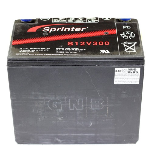 Exide GNB Sprinter S12V300 - High Rate - UPS Replacement Battery - 12V 75Ah - IT Terminal