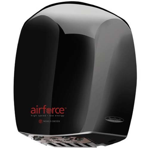 Airforce J4-162 - Hand Dryer - 208-240V - Aluminum Black - High-Speed Energy-Efficient Hand Dryer