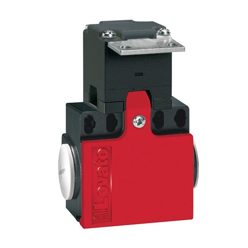 """Lovato KCN1L02 - LIMIT SWITCH - K SERIES - KEY OPERATED - 2 SIDE CABLE ENTRY - DIMENSIONS COMPATIBLE TO EN 50047 - PLASTIC BODY - CONTACTS 1NO+1NC SLOW BREAK - ANGLED """"T"""" KEY"""