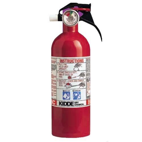 Kidde 466294 - 5-B:C Red Auto / Kitchen / Garage Extinguisher - 2 Lbs - Marine Approved