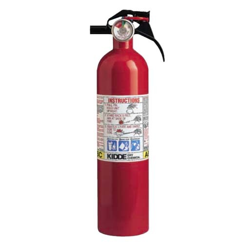 Kidde 466296 - 1-A:10-B:C Red Multipurpose / Home Extinguisher - 2.5 Lbs - Suitable for use on Most Common Fires