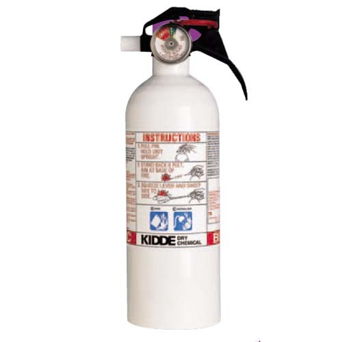 Kidde 468031 - 5-B:C White Auto / Kitchen / Garage Extinguisher - 2 Lbs - Marine Approved