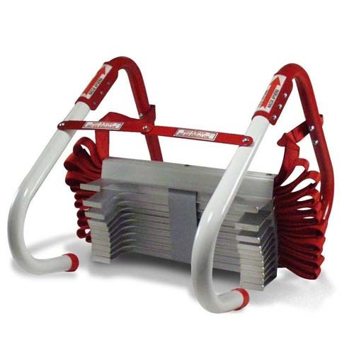 Kidde 468094 - Three Storey Home Emergency Escape Ladder - 25 Foot Height - Holding Weight 900 Lbs - Red Color