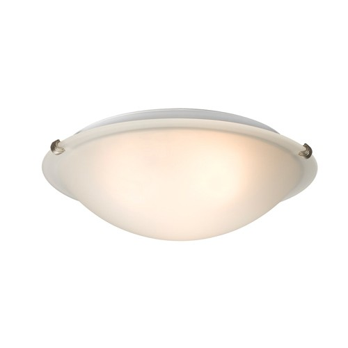 "Galaxy Lighting L680116FP031A1 - LED Flush Mount Ceiling Light - in Pewter finish with Frosted Glass - 16-1/8""D x 4-7/8""H"
