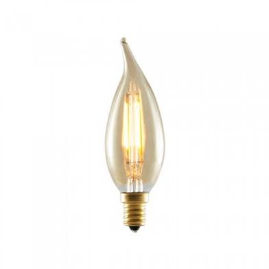 Bulbrite 776503 - 2W LED CA10 2200K Filament Nostalgic - E12 Base - Equals 25 Watt Incandescent - LED2CA10/22K/FIL-NOS - 10 Packs