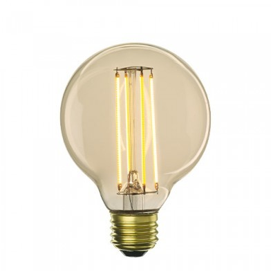 Bulbrite 776500 - 4W LED G25 2200K Filament Nostalgic - Medium E26 Base - 40 Watt Incandescent Equivalent - LED4G25/22K/FIL-NOS