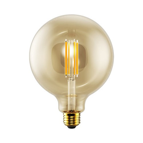 Eiko LED5WG40/FIL/822K-DIM-G6 - LED Advantage Filament G40 - 320 Deg. - 5 Watt - 400 Lumens - Dimmable - 80 CRI - 2200K - Medium Screw (E26) Base - 120VAC - Amber - 12 Packs