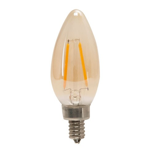 TCP LFB11C6022AD - LED Filament B11 - 120VAC - 5.5W - 450 Lumens - 2200K Warm White - 80 CRI - 60W Equal - Dimmable - 270 Deg.Beam Angle - Amber - 6 Packs