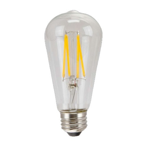 TCP LFST196022AD - LED Filament ST19 - 7W - 120V - 640 Lumens - 2200K Warm White - 80 CRI - Dimmable - 60W Incandescent Equal - 6 Packs
