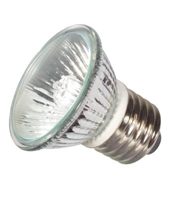 Liteline LMP16XE26AC50B - 120V 50W HR16 Covered Xenon Lamp - MR16 Medium E26 Base - 2500 Hrs. - Aluminum Reflector