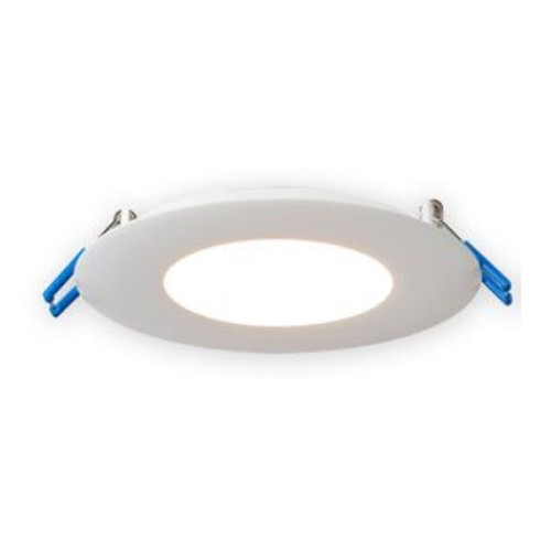 """Lotus LED Lights LL4R-50K-WH - The Ultimate Super Thin 4"""" Round Recessed LED - 120 Volt - 13.5 Watt - 5000K Daylight - 850 Lumens - Dimmable - IC Rated - White Trim"""