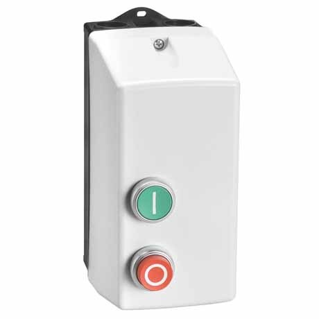 Lovato 1 Phase Electromechanical Starter - 1/3 HP with Start and Stop/Reset Buttons - Overload Relay 6.3-10A - IP65 - Contactor Coil 120VAC