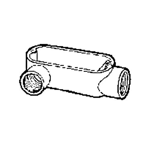 Nesco LL7GC - 2-1/2'' 'LR' Rigid Conduit Body - Threaded only (Requires connectors for EMT)
