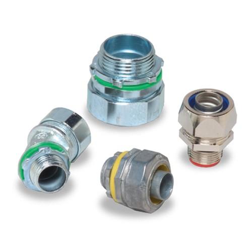 """Techspan LTM-90100 - Liquidtight Connectors - 90° Connector - 1"""" Conduit Size - Die-Cast Zinc - 5 Packs"""