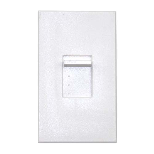 Lutron NT-1500-WH Nova T Incandescent Dimmer Single-Pole 1500W Slide-to-Off Dimmer, White Color
