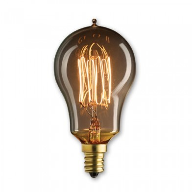 Bulbrite 132515 - 25 Watt - Antique Bulb - A15 Clear - 3.75 Inch Long - Candelabra E12 Base - Thread Filament - 10 Packs